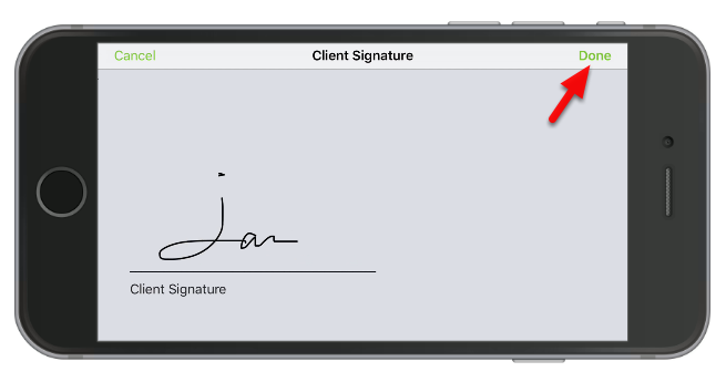 Ask the customer to sign into your iPhone or iPad device