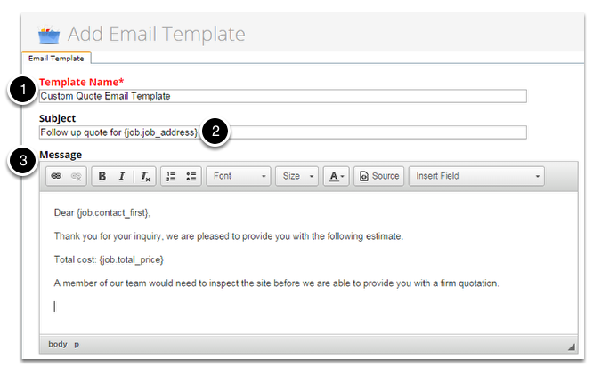 Create your own email template