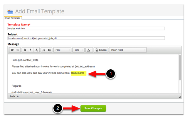 Set up your e-mail template