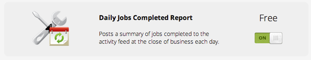 How to activate the Jobs Completed report
