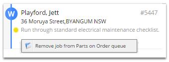 How do I remove a job from a queue?