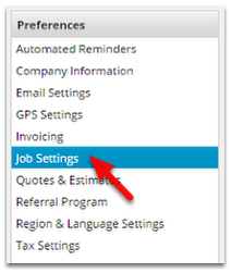 Click Job Settings