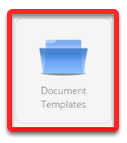 Click Document Templates<br />