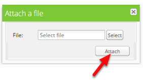 Select a file and click Attach