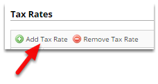 Click Add Tax Rate