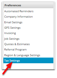 Click Tax Settings
