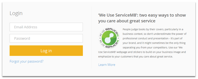 Login to your ServiceM8.com account