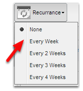 Set the job to recurrance rate appropriately