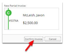 Click Confirm Invoice