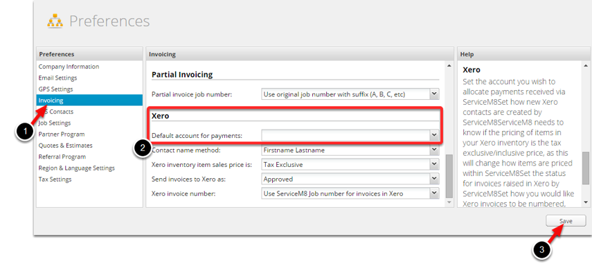 Adjust default account for payments