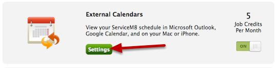 Configure External Calendars