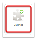 From dashboard, click Settings