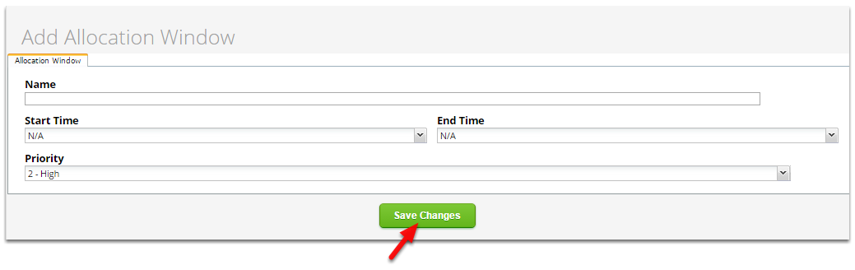 Fill in the fields and click Save Changes