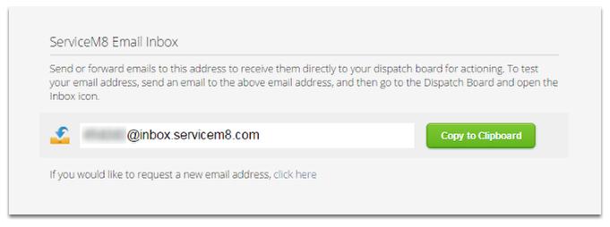 Viewing your ServiceM8 Inbox Address