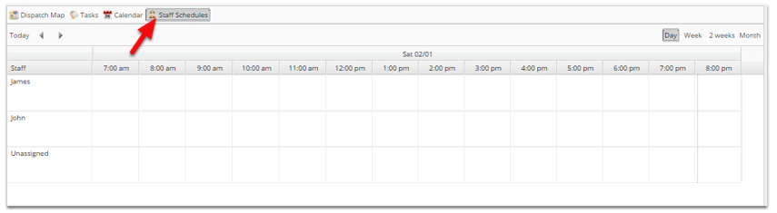 To go to the calendar or schedule views, click the tab at the top of your screen: