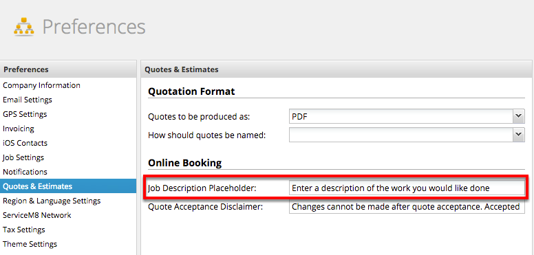 Customizing the Online Booking Form