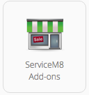 Go to Settings, then click ServiceM8 Add-ons