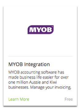 Find the MYOB Integration add-on