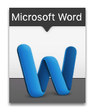 Open the document template on MS Word