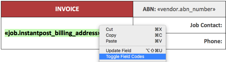 You can toggle field codes to see the actual code that's been inserted.