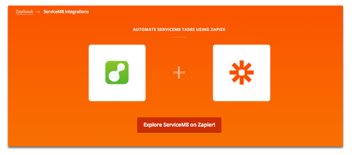 Go to Zapbook page for ServiceM8