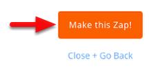 Click Make this zap!