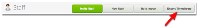 In Staff page, click Export Timesheets
