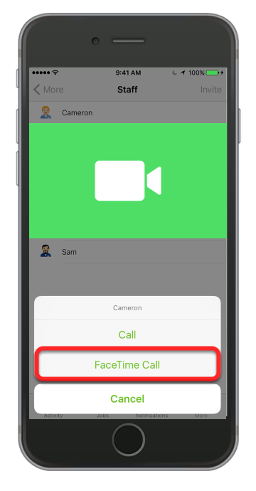 Facetime Call Support