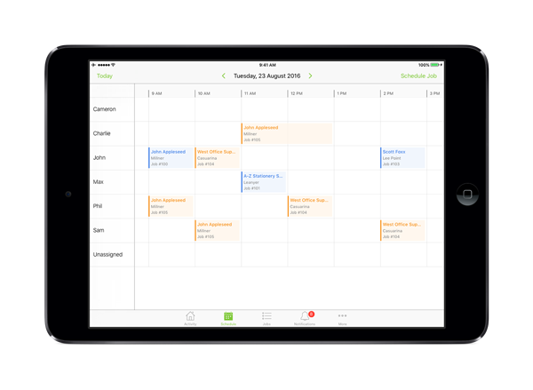 Introducing Staff Schedule on iPad