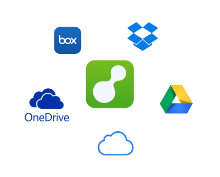 How can I email files from my Dropbox, Box, GoogleDrive