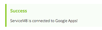 The Google Apps Integration Add-on is now activated!