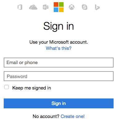 Sign in to your Office 365 account