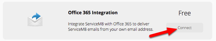 Activate the Office 365 Integration add-on in Settings > ServiceM8 Add-ons