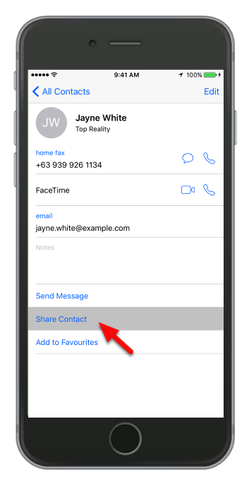 Tap Share Contact
