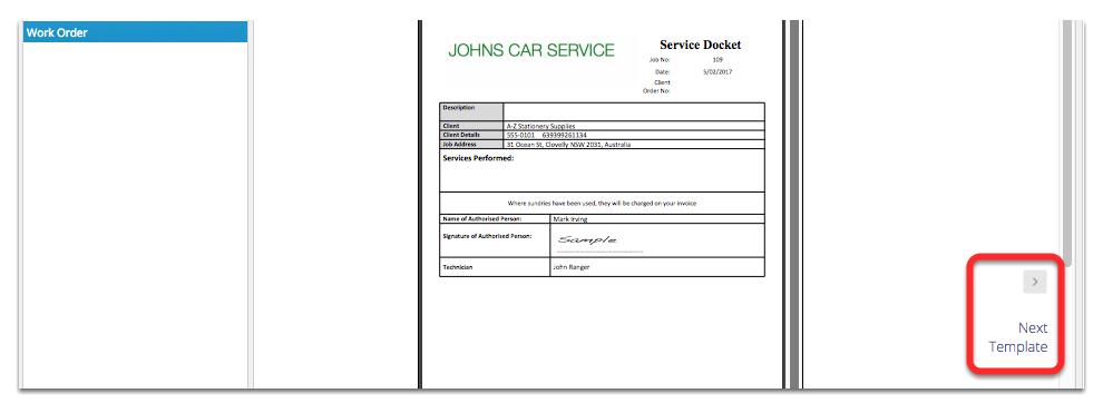 service work order templates
