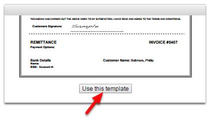 invoice setup