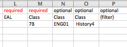 Classes Option 2: