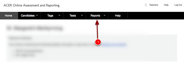Step 2: Once you have logged in you will be taken to this screen. From here click the Reports Button
