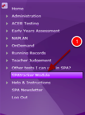 Step 1: Login to your SPA account and launch the SPAtracker Module