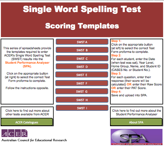 SWST SPELLING LISTS PDF DOWNLOAD