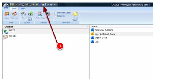 Step 2: Click on the Worksheet- Display SQL Tables Link