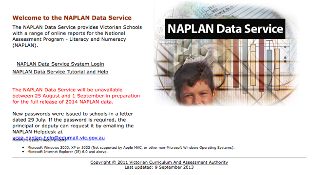 Step 1: Navigate to the NAPLAN data service website