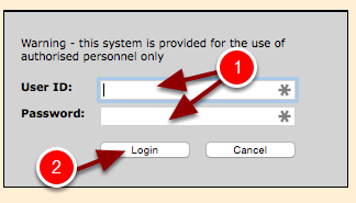 "Type in your schools ""User ID"" and Password and click Login."