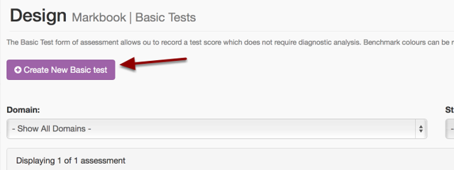 "Step 2: Click ""Create New Basic Test"" button"