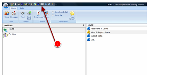 Step 2: Click on the Worksheet- Display SQL Tables Link