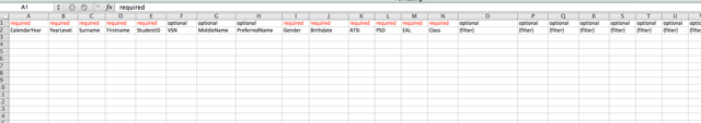 "Step 2: Compile a list of all the current students. Including all of the ""required"" fields in the document."