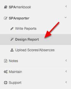 Step 1: Navigate to the Design Report section in the menu