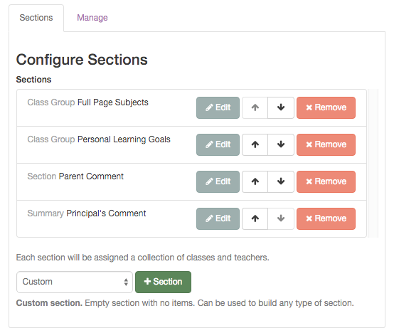 Step 6: We design a report sections by adding different report sections to the report.