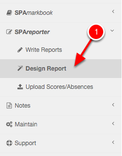 Navigate to the Report Design page