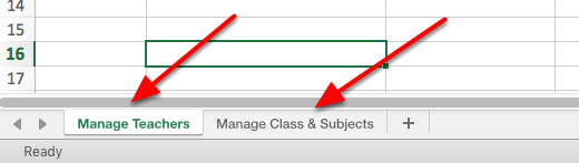 IMPORTANT NOTE: The import template has two (2) worksheets to it. The first is managing your teachers/users & the second is managing your classes and subjects